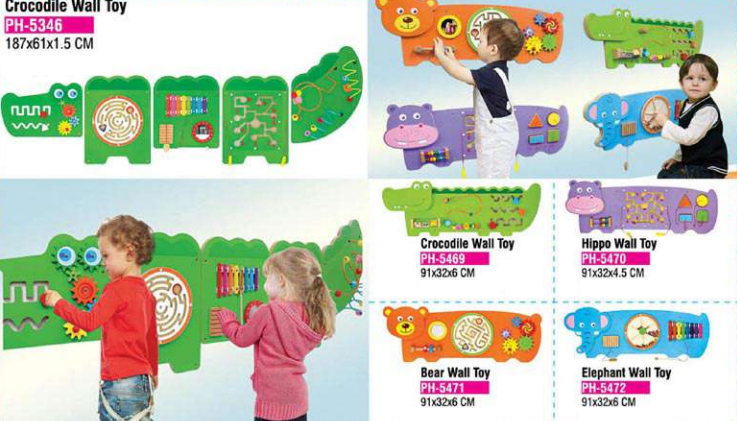 Wooden wall toys